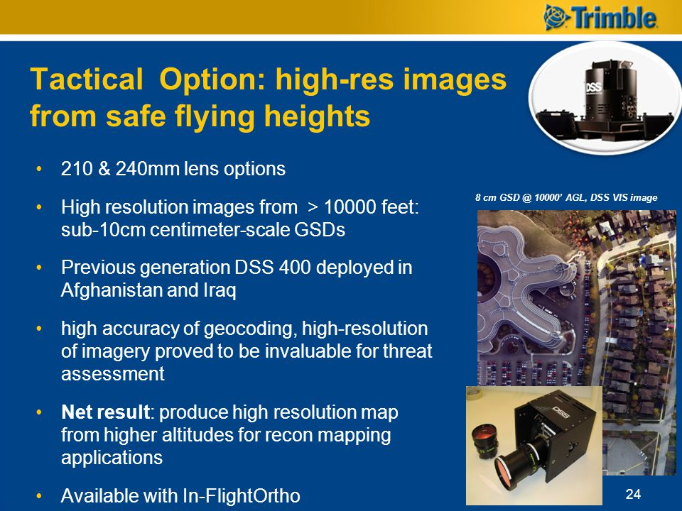 Tactical Option: high-res images from safe flying heights