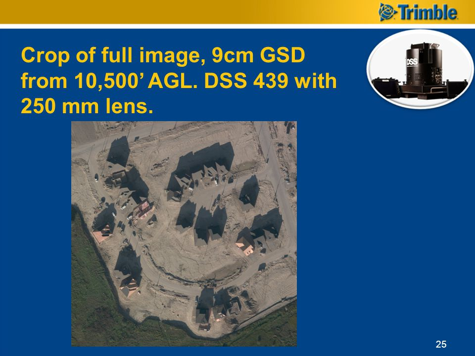 Crop of full image, 9cm GSD from 10,500' AGL. DSS 439 with 250 mm lens.