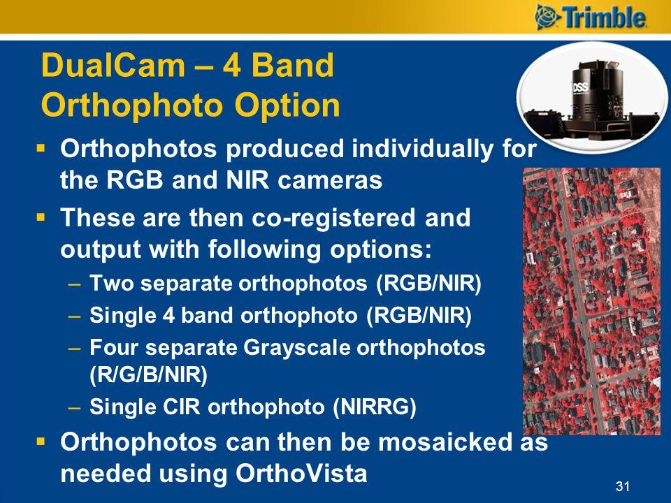 DualCam – 4 Band Orthophoto Option