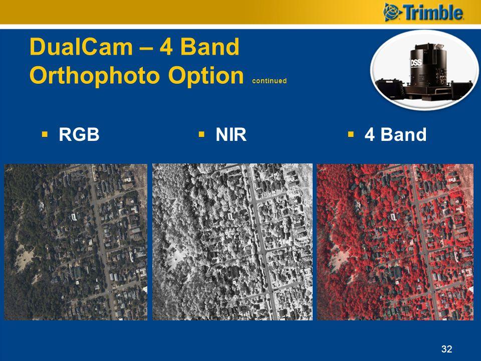 DualCam – 4 Band Orthophoto Option continued