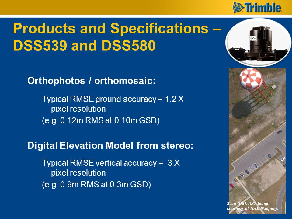 Products and Specifications – DSS539 and DSS580