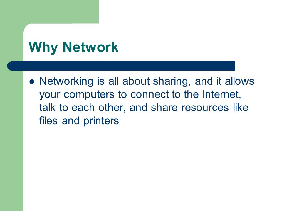 Why Network