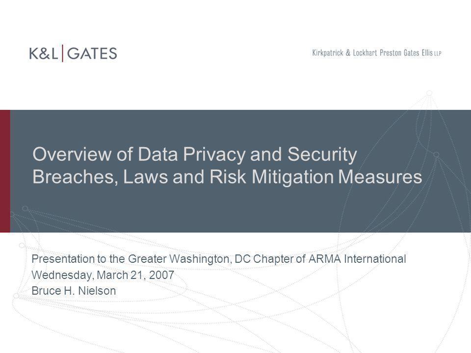 Overview of Data Privacy and Security Breaches, Laws and Risk Mitigation Measures