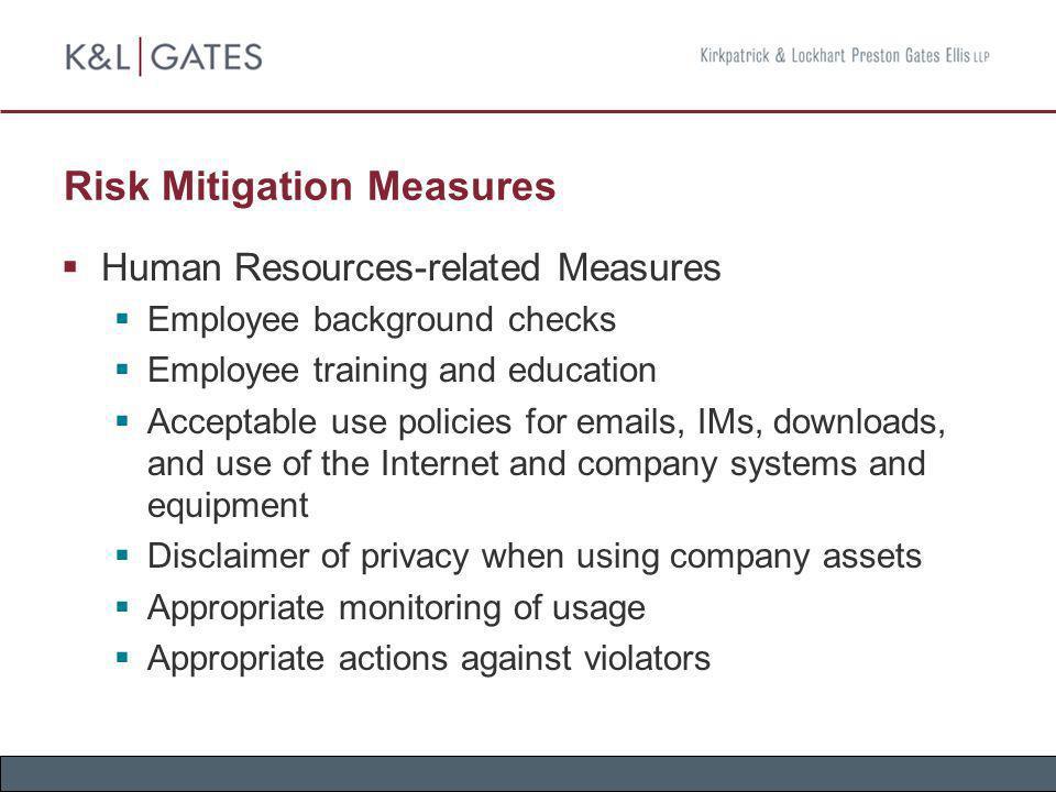 Risk Mitigation Measures