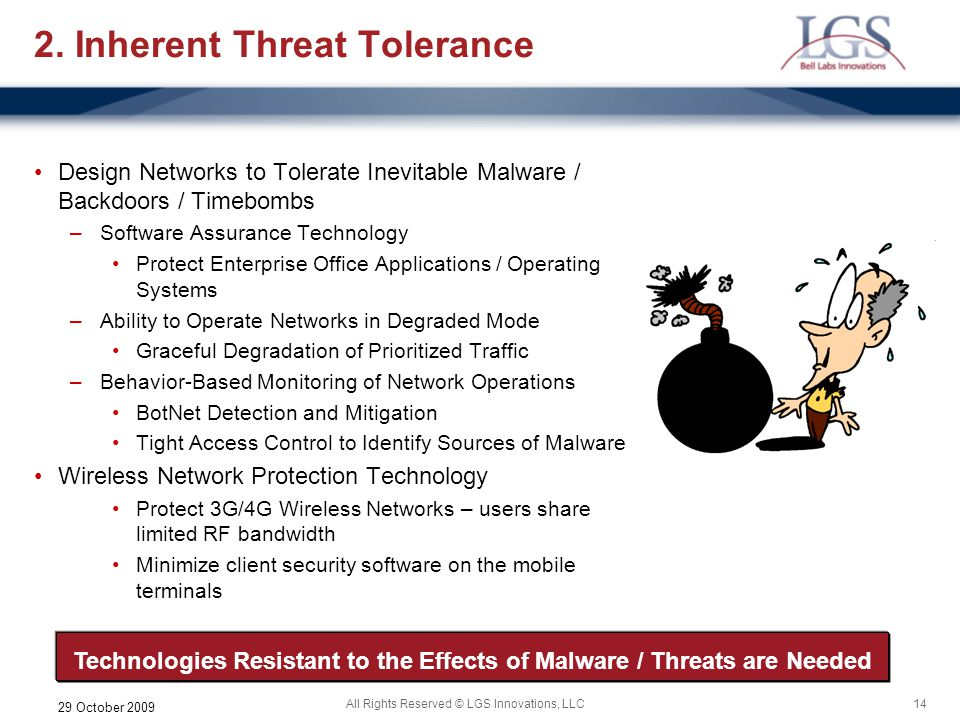 2. Inherent Threat Tolerance