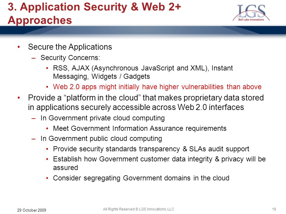 3. Application Security & Web 2+ Approaches