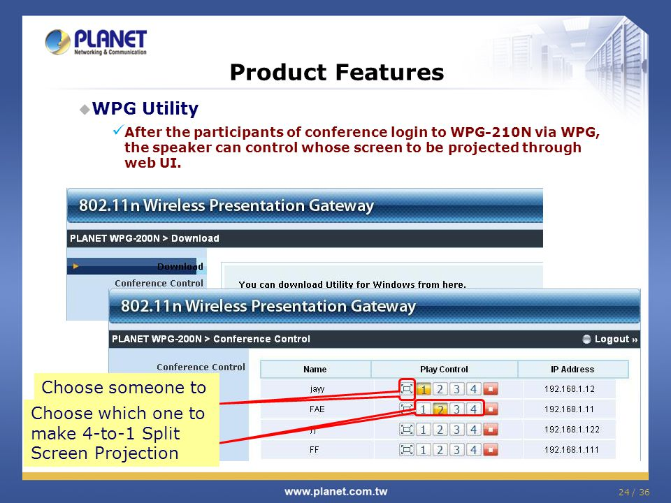 Product Features WPG Utility Choose someone to make Full-Screen