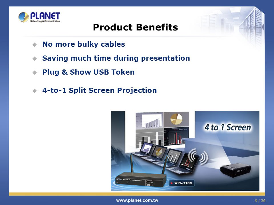 Product Benefits No more bulky cables