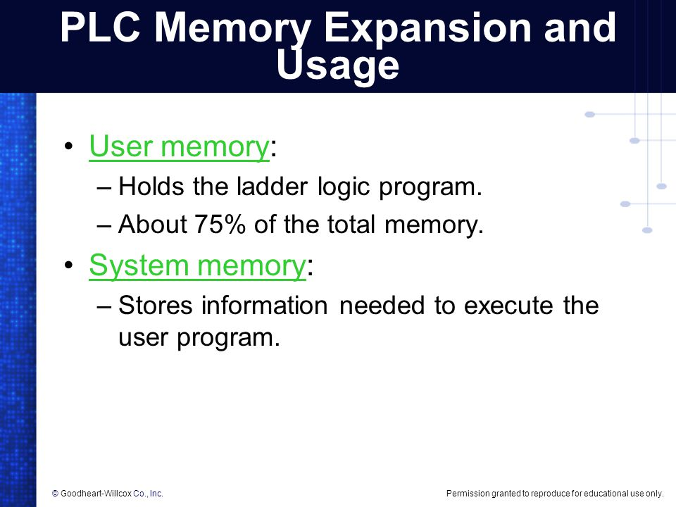 PLC Memory Expansion and Usage