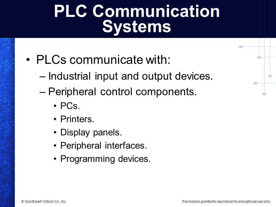 PLC Communication Systems