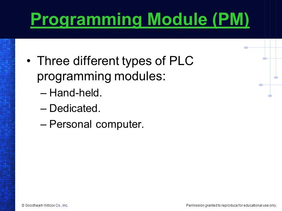 Programming Module (PM)