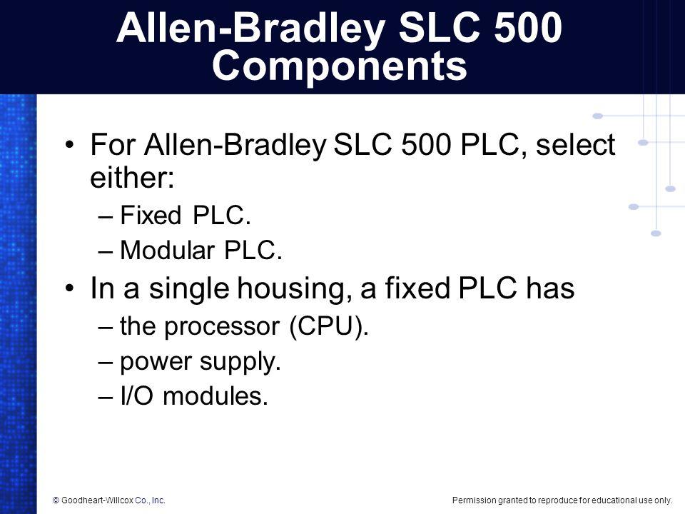 Allen-Bradley SLC 500 Components