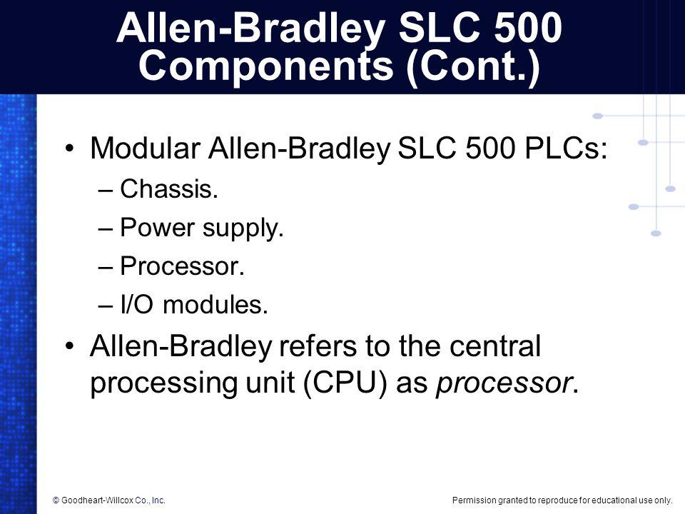 Allen-Bradley SLC 500 Components (Cont.)
