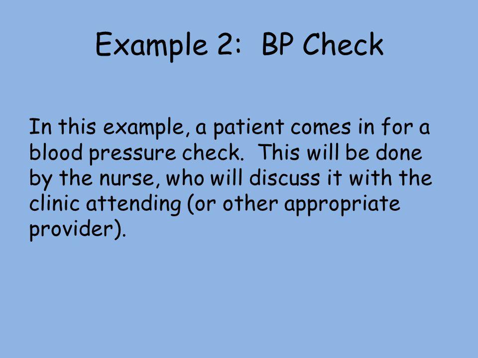 Example 2: BP Check