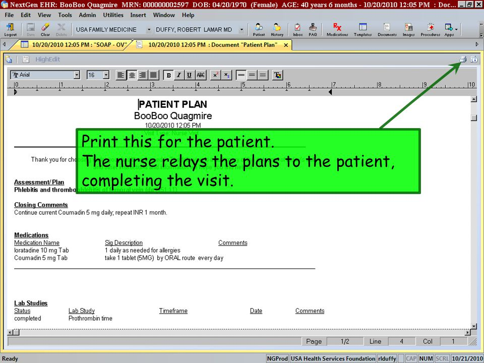 Print this for the patient.