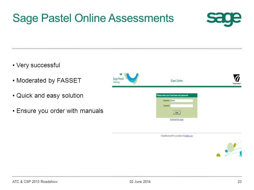 Sage Pastel Online Assessments