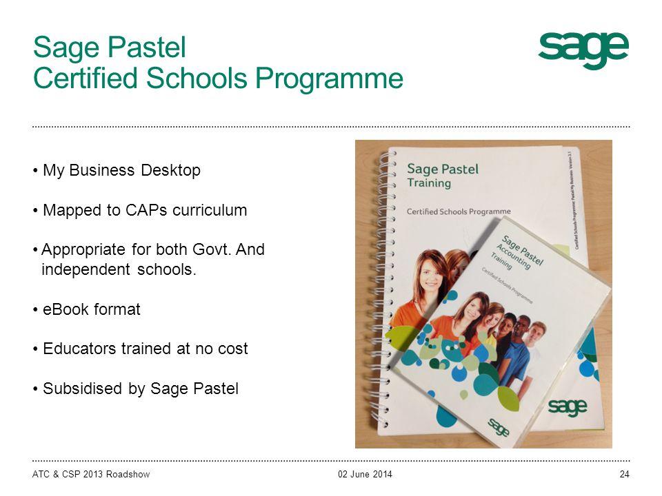 Sage Pastel Certified Schools Programme