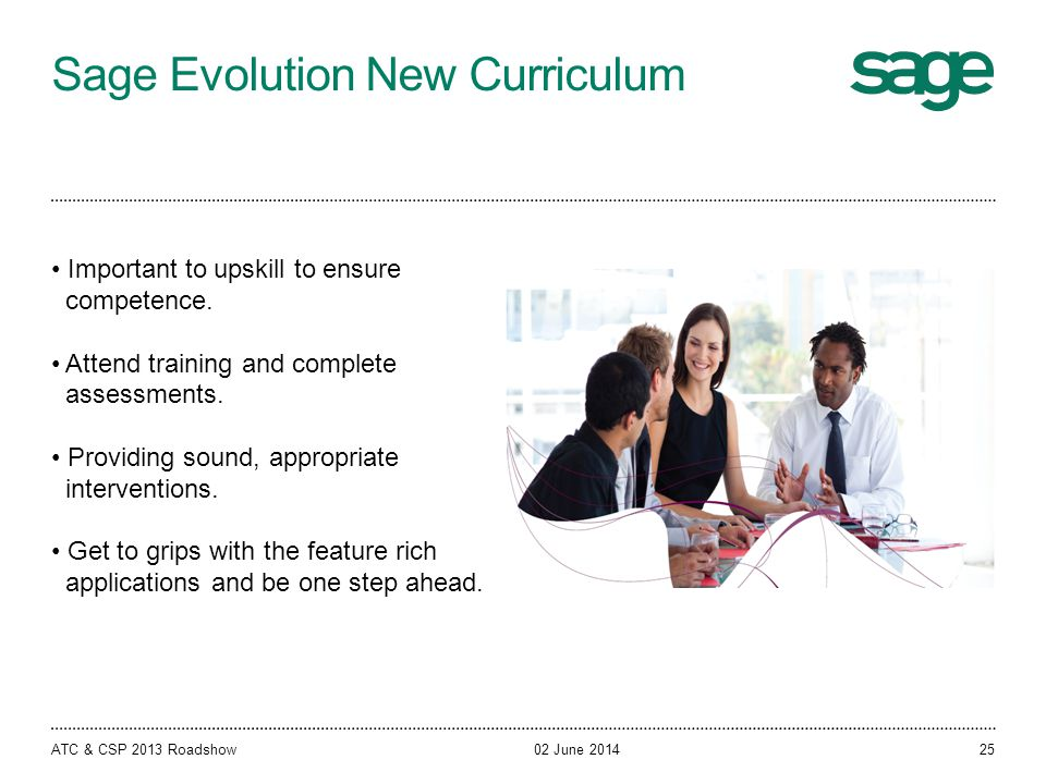 Sage Evolution New Curriculum