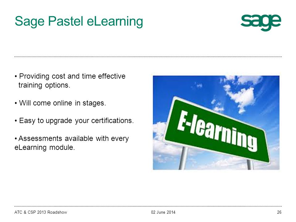 Sage Pastel eLearning Providing cost and time effective