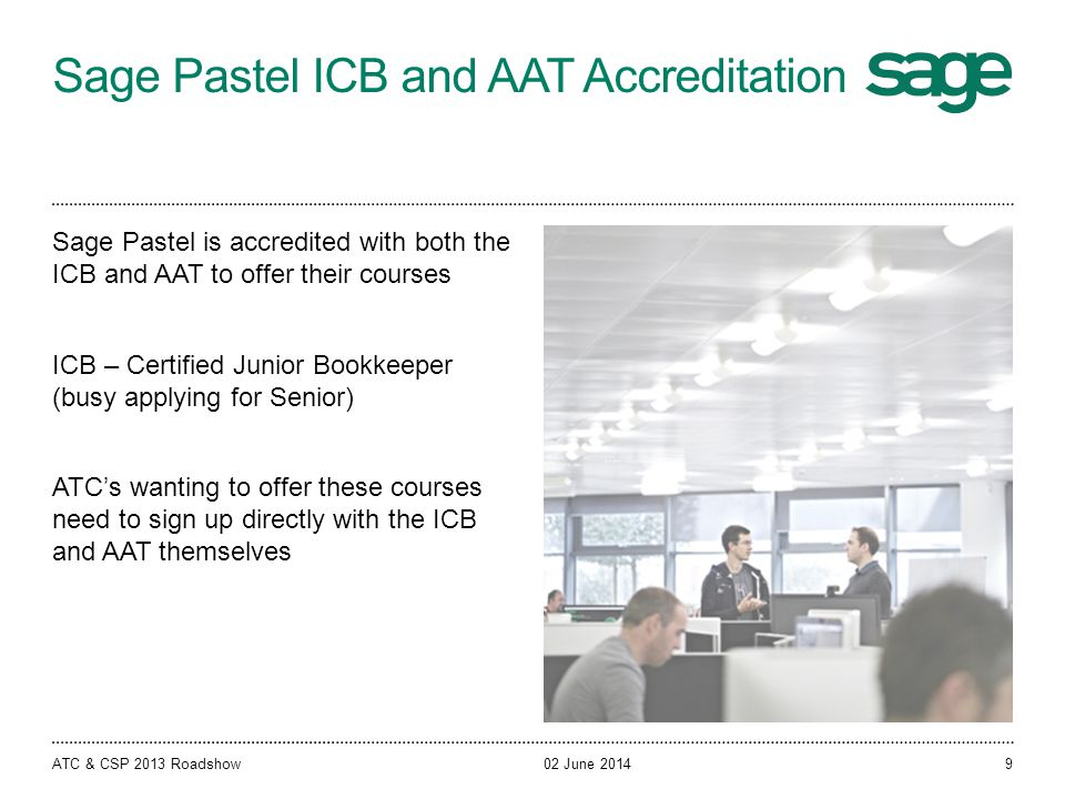 Sage Pastel ICB and AAT Accreditation