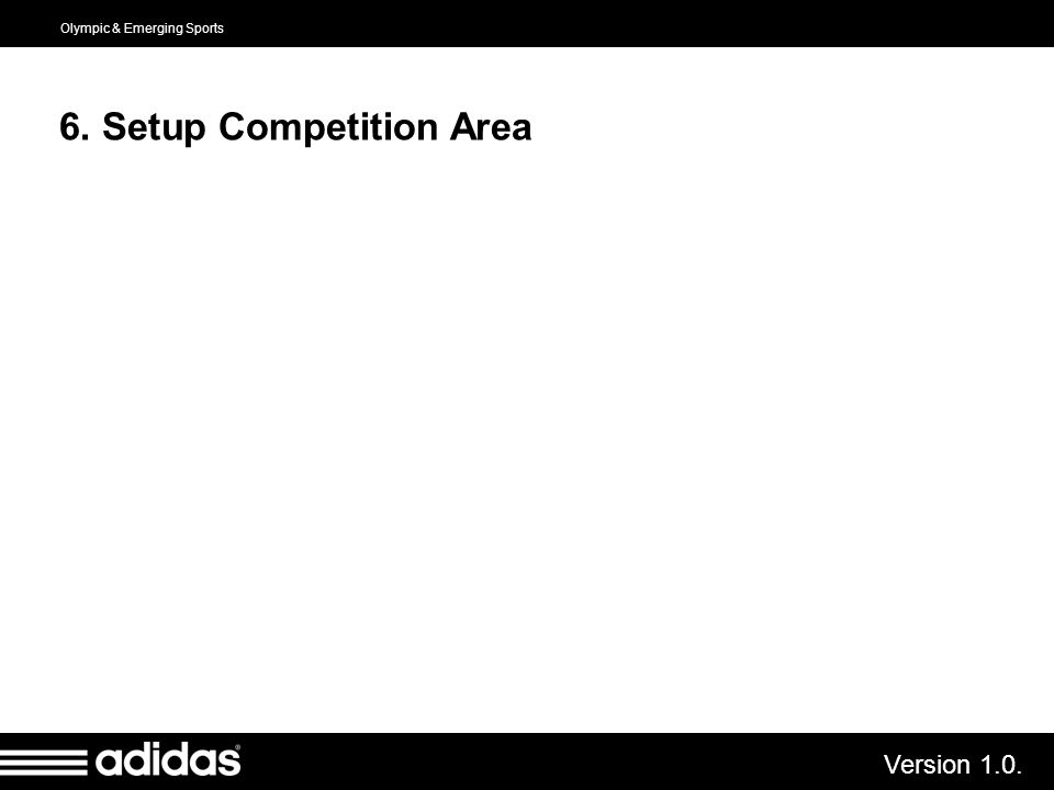 6. Setup Competition Area
