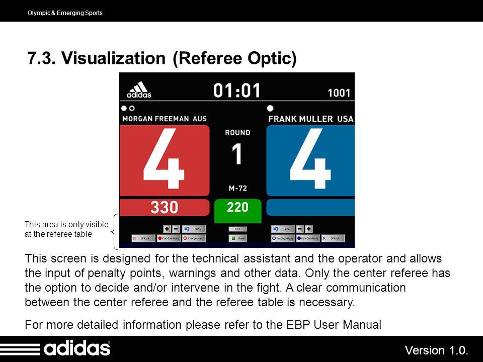 7.3. Visualization (Referee Optic)