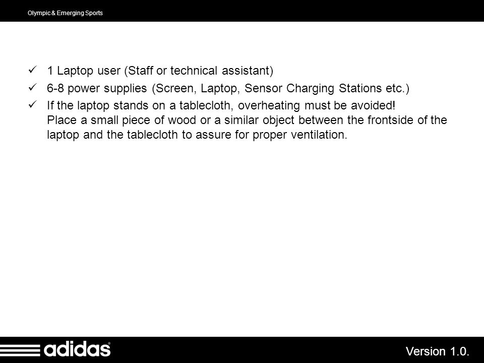 1 Laptop user (Staff or technical assistant)