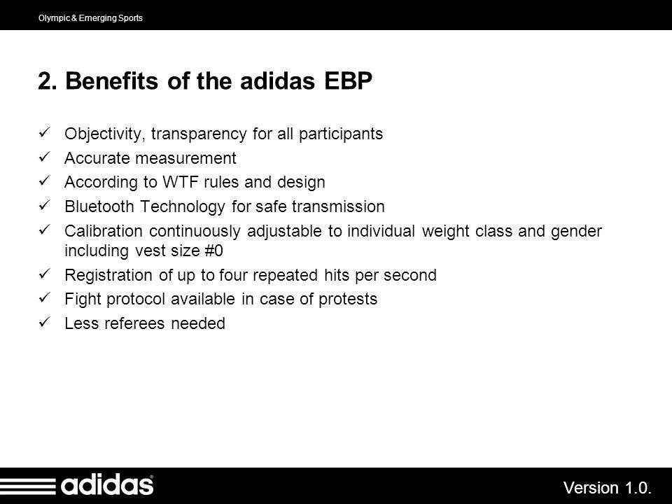 2. Benefits of the adidas EBP