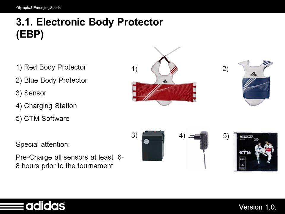 3.1. Electronic Body Protector (EBP)