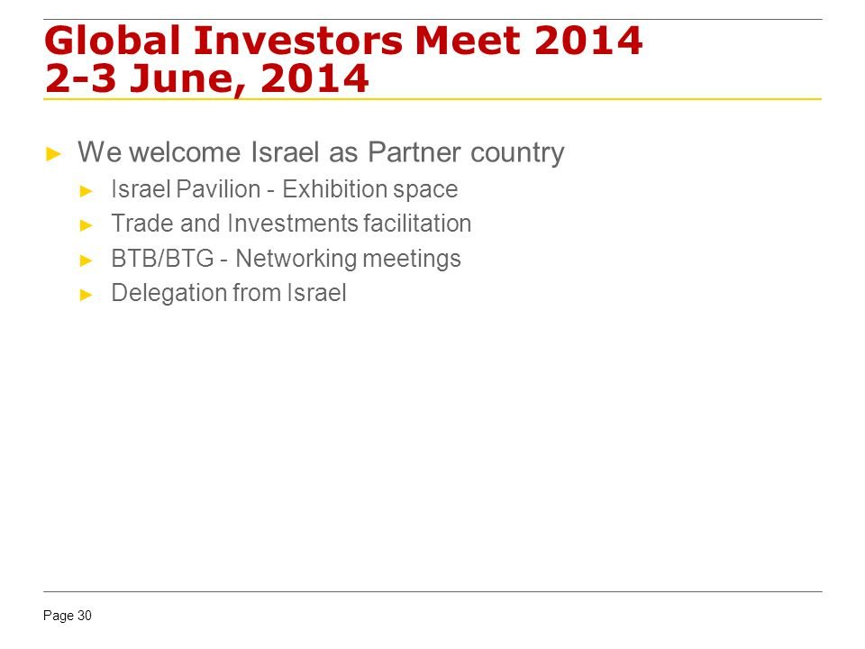 Global Investors Meet 2014 2-3 June, 2014