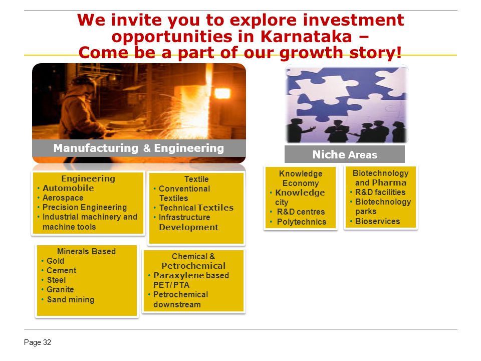 We invite you to explore investment opportunities in Karnataka – Come be a part of our growth story!