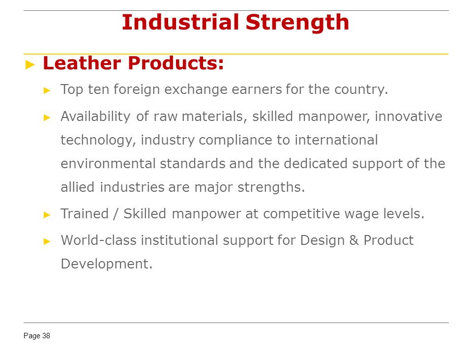 Industrial Strength Leather Products: