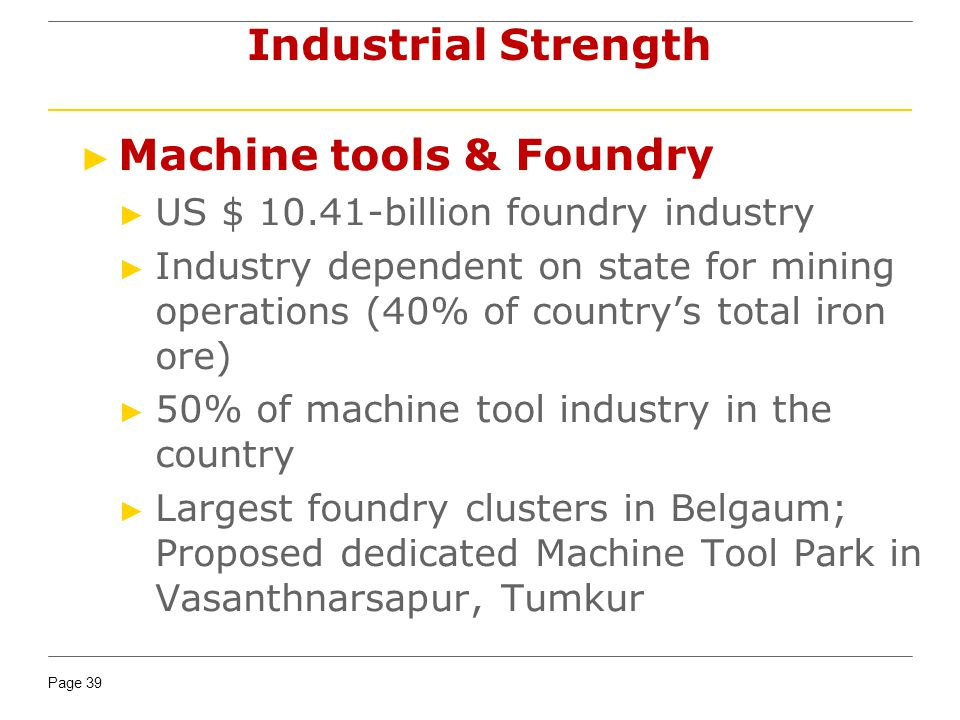 Machine tools & Foundry