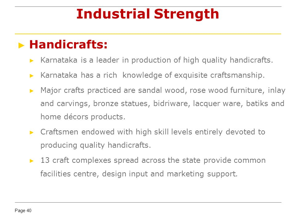 Industrial Strength Handicrafts: