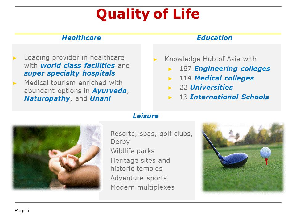 Quality of Life Healthcare Education