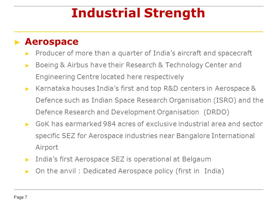 Industrial Strength Aerospace