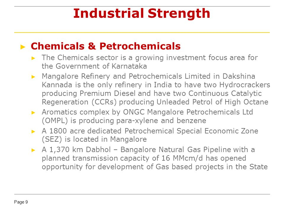 Industrial Strength Chemicals & Petrochemicals