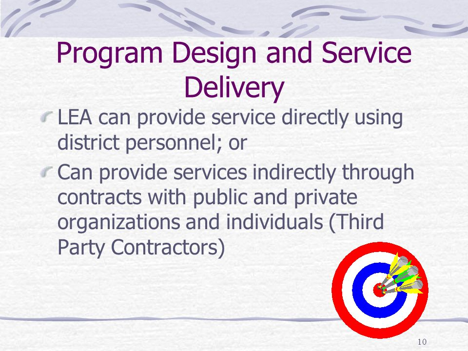 Program Design and Service Delivery