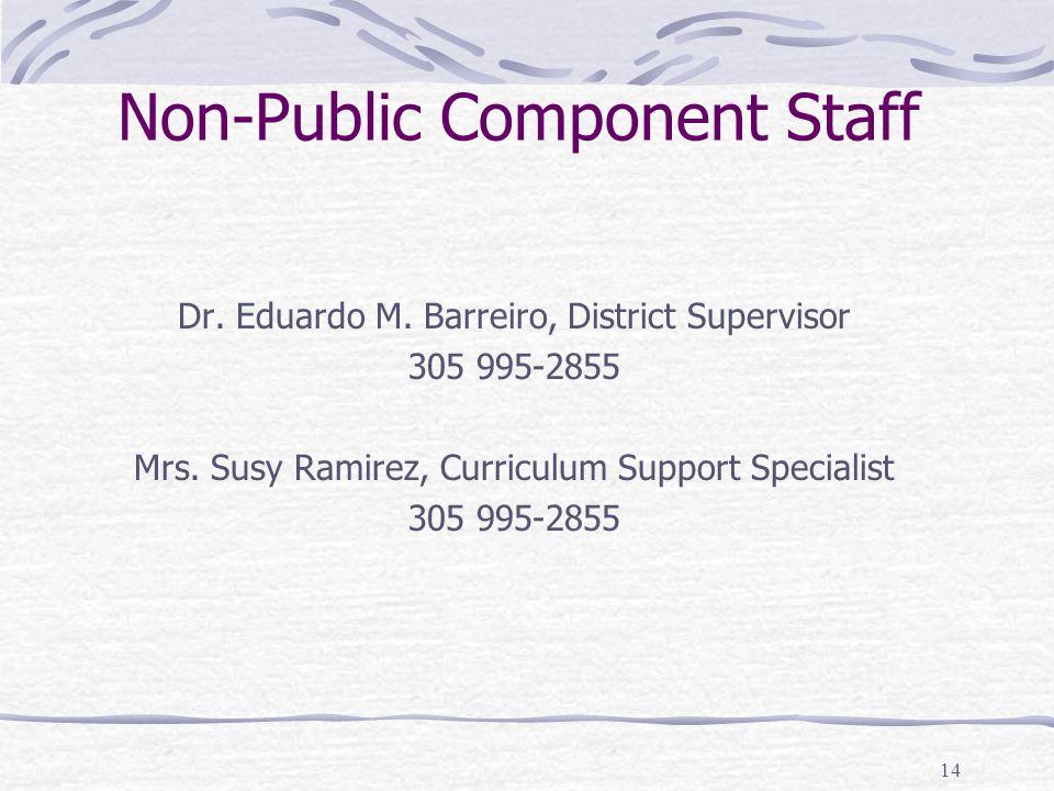 Non-Public Component Staff