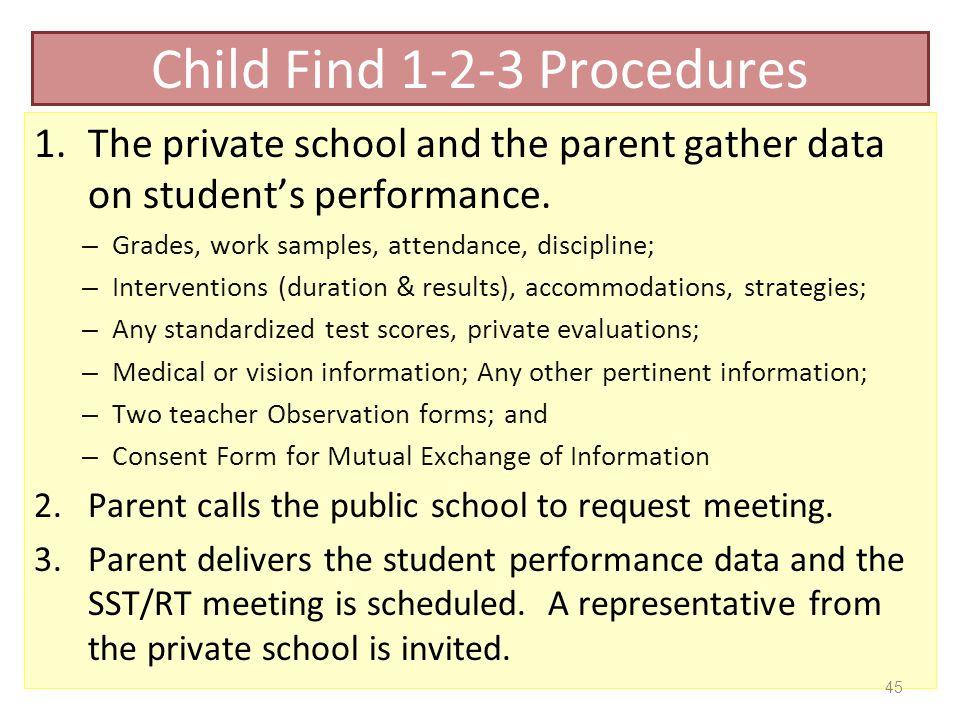 Child Find 1-2-3 Procedures