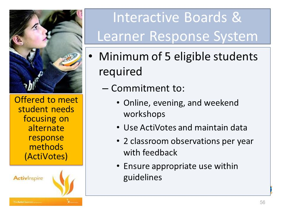 Interactive Boards & Learner Response System