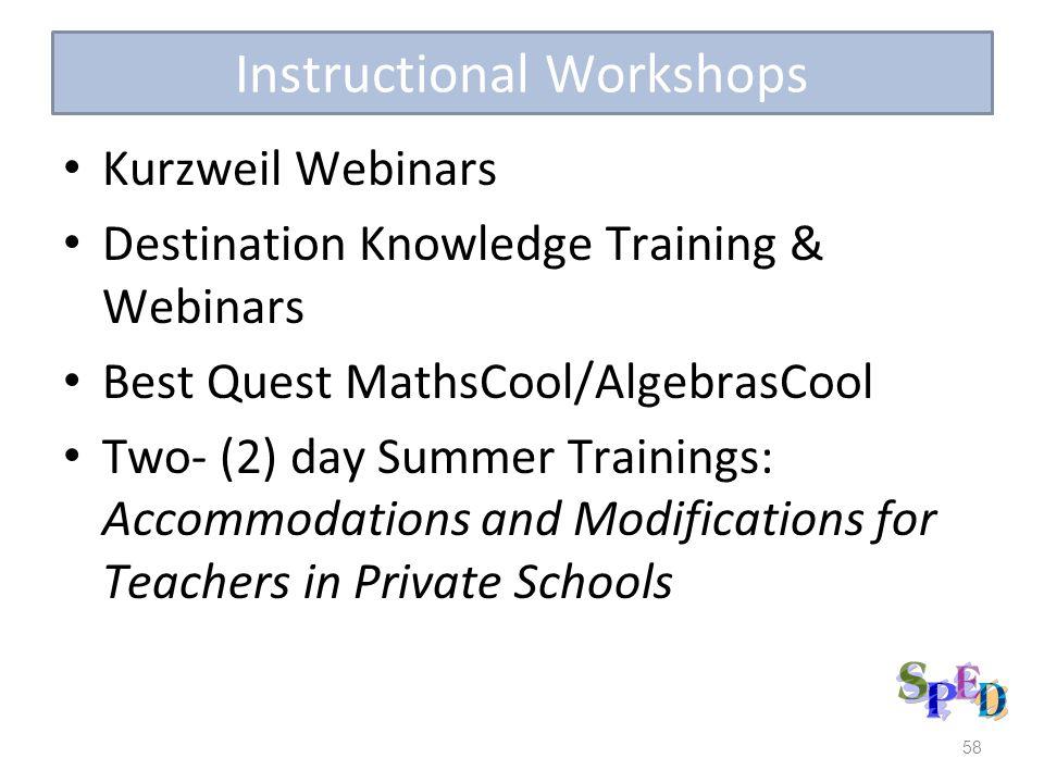 Instructional Workshops