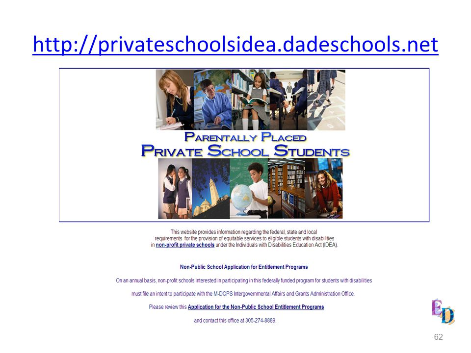 http://privateschoolsidea.dadeschools.net 62