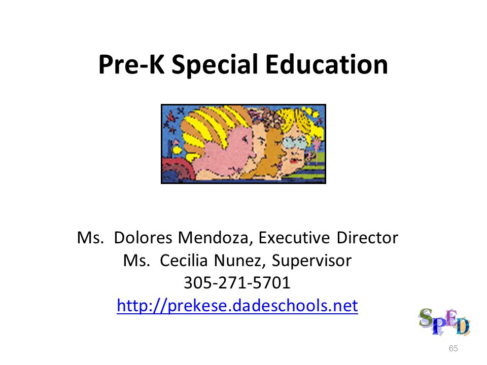 Pre-K Special Education