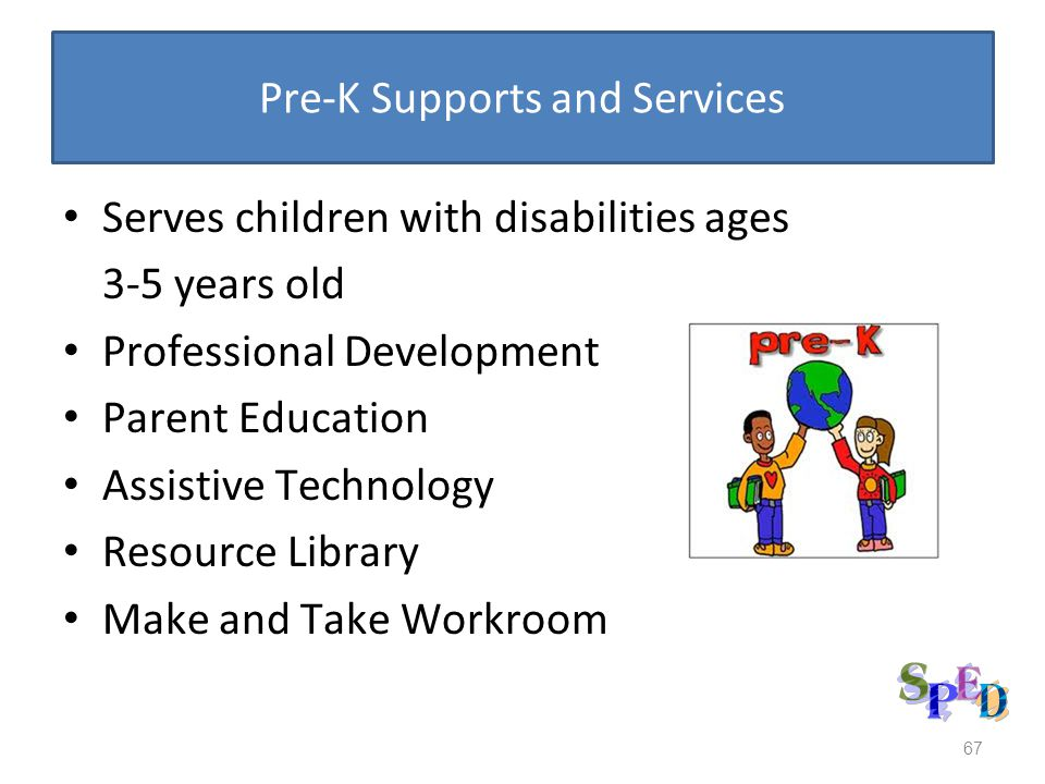 Pre-K Supports and Services