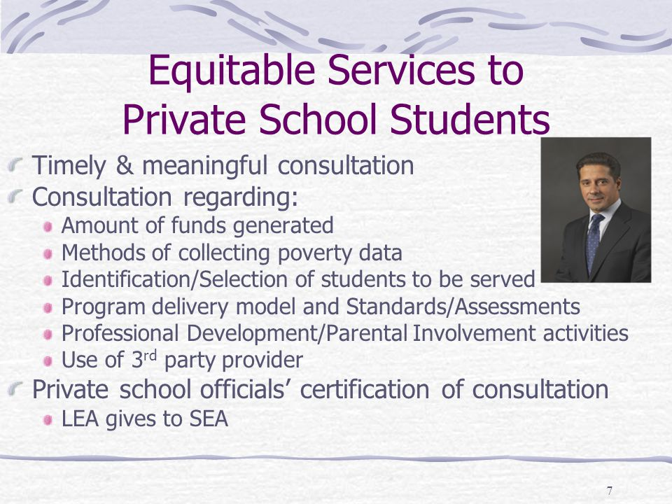 Equitable Services to Private School Students