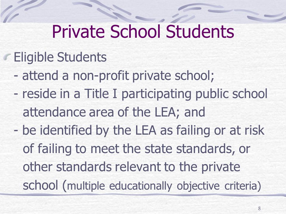 Private School Students