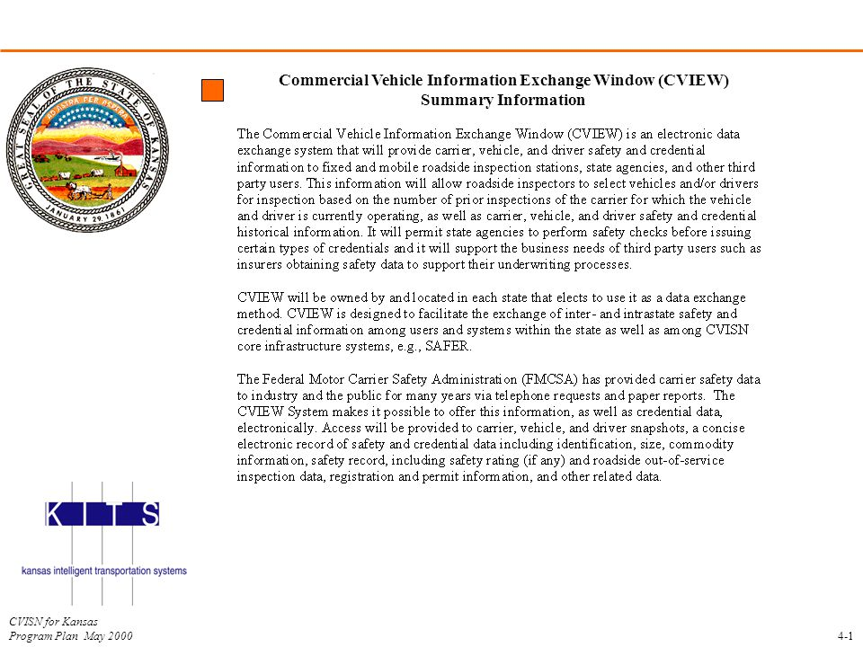 Commercial Vehicle Information Exchange Window (CVIEW)