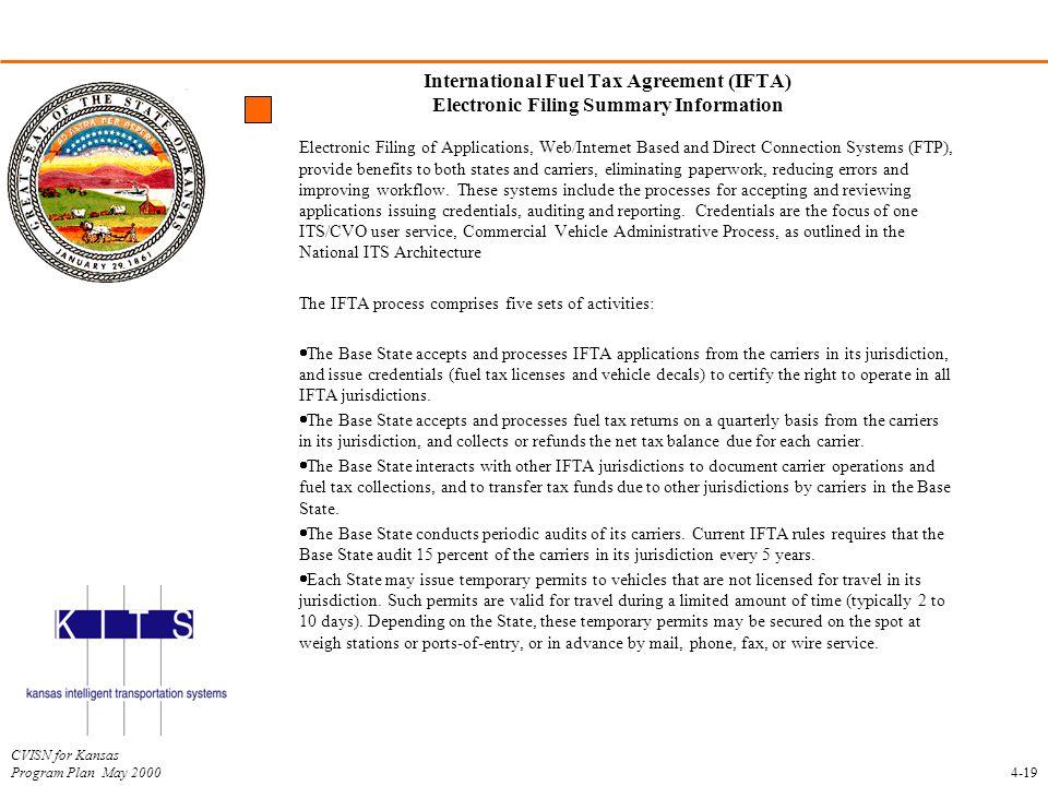 International Fuel Tax Agreement (IFTA) Electronic Filing Summary Information