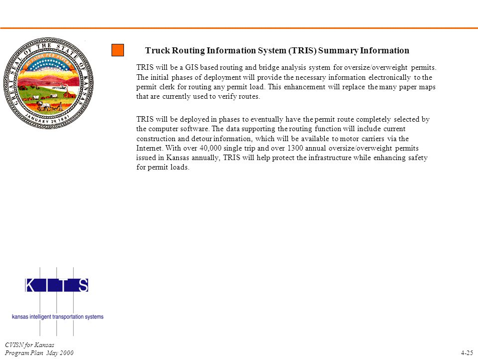Truck Routing Information System (TRIS) Summary Information